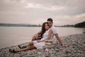 Outdoor lakeside Engagement shoot in Constance, Germany
